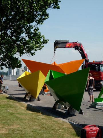De opbouw van de 5 papieren bootjes