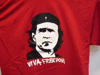 president Bush Guevara on T-Shirt