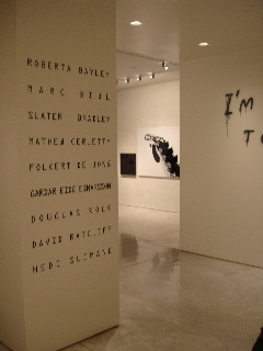 The participants in the show; I LOVE MY SCENE, curated by Jose Freire  at Mary Boone, March 2006
