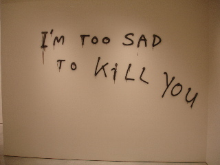 I'm too sad to kill you at Mary Boone, New York