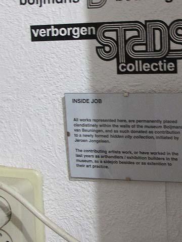 inside job / de Verborgen Stadscollectie