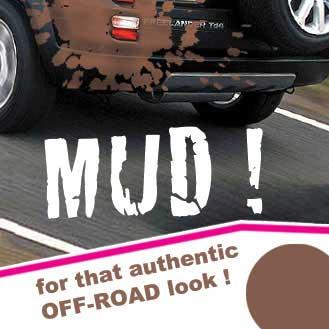 Spray on mud