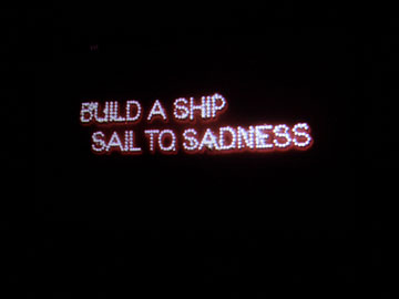 Build a ship, sail to sadness