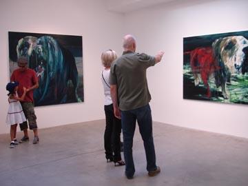 Simon Schrikker en Phil Bower @ Carl Berg Gallery