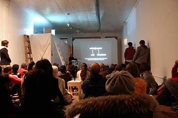 Open Interval living room gallery presents Brett Hanovers      series of meta-lectures.JPG
