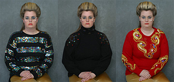 Mobile museum of gem sweaters