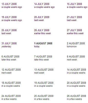 Contextual calendar