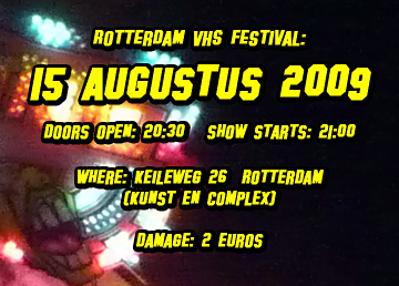 VHS Festival aanstaande zaterdag