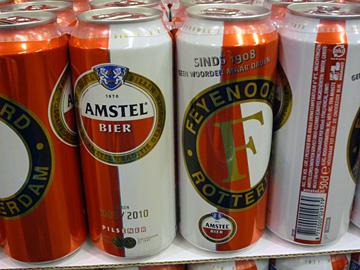 Het Amsterdamse biertje met het Rotterdamse logo