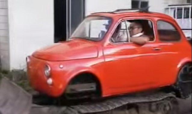 De Fiat graafmachine