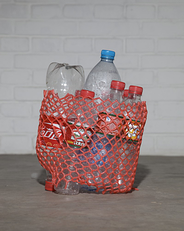 My bottles(five days). Caochangdi, Beijing