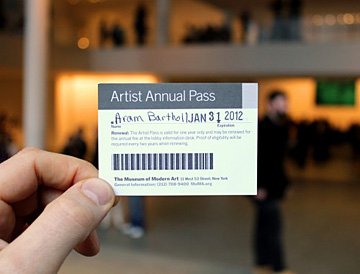 Aram Bartholl How to make your own MOMA artist pass