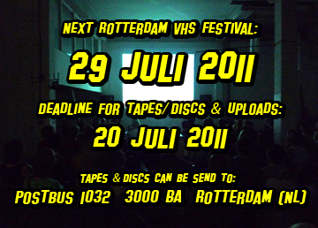 Rotterdam VHS Festival call for entries