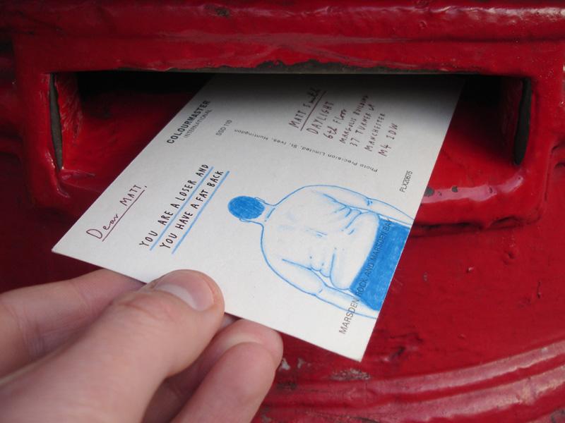 Mr. Bingo, Hate Mail