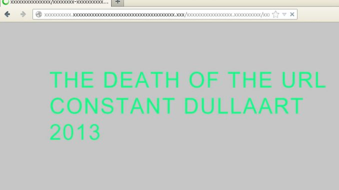 Constant Dullaart, The Death Of The URL