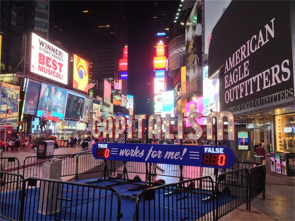 Capitalism Works for Me! in Times Square