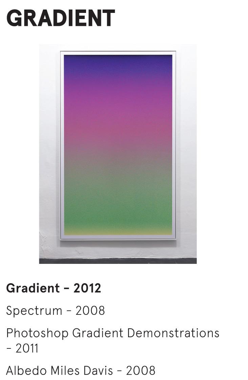 GRADIENT - Adrian Sauer - Gradient - 2012