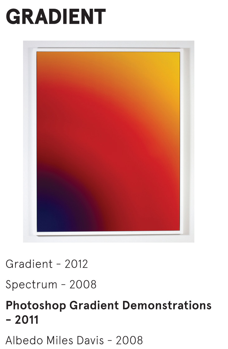 GRADIENT - Cory Arcangel - Photoshop Gradient Demonstrations - 2011