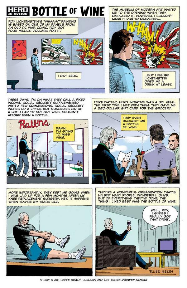 Russ Heath over Roy Lichtenstein