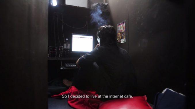 Wonen in een internetcafé
