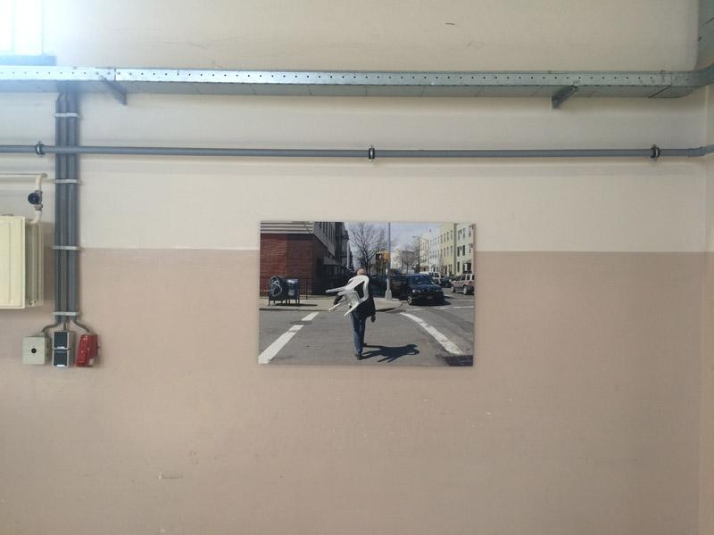 Boellaardprijs 2013 Ienke Kastelein met een werk van haar mooie project op o.a. 14th street in New York