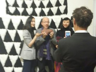 Jerry Saltz at Independent Artfair, NYC
