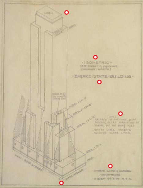 Het Empire State Building gebouwd