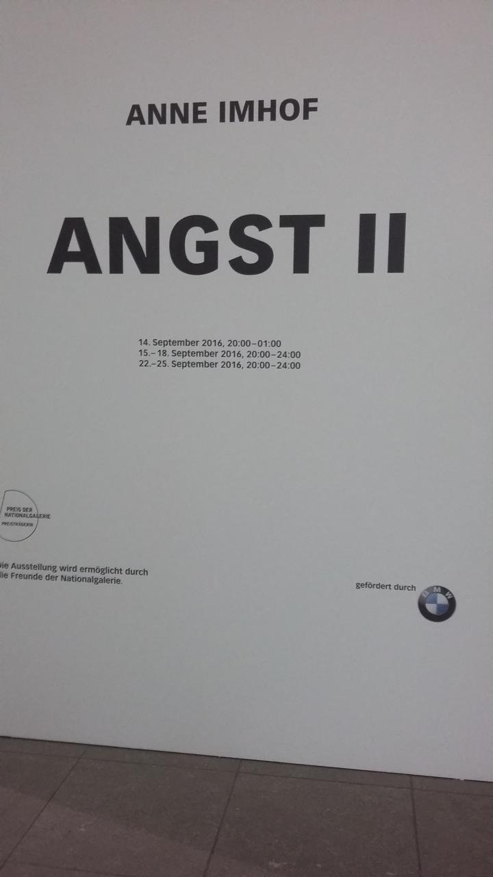 Anne Imhof Angst II @ Hamburger Bahnhof Berlin