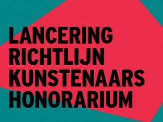 Informatiebijeenkomst richtlijn Kunstenaars-honorarium