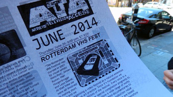 Rotterdam VHS Festival @ Artist Television Acces, San Francisco