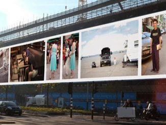Paulien Oltheten maakt 'grootste doek ter wereld' in Oost