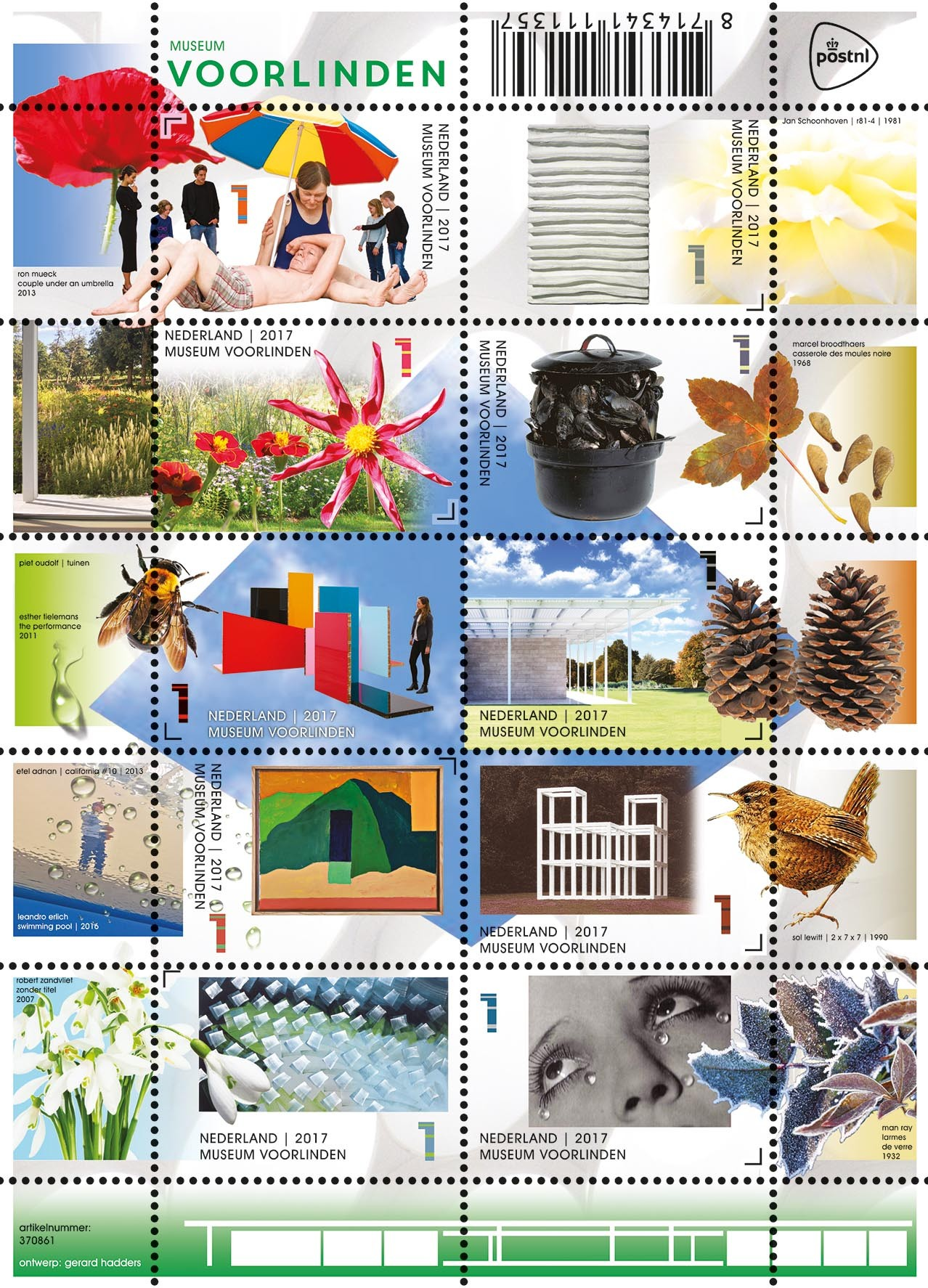 Museum Voorlinden, het postzegelvel