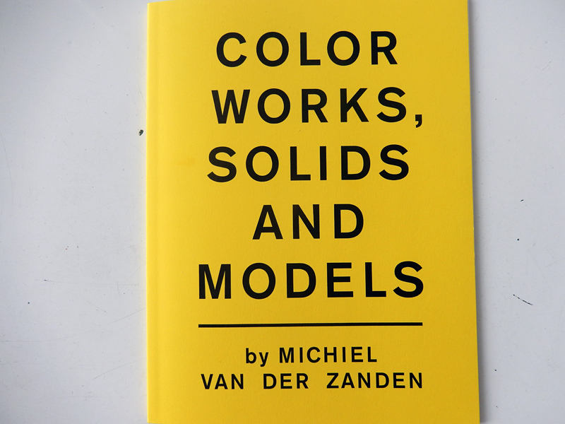 Vakantieboekentips 3: Color Works, Solids and Models, Michiel van der Zanden