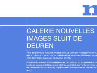 Galerie Nouvelles Images sluit de deuren