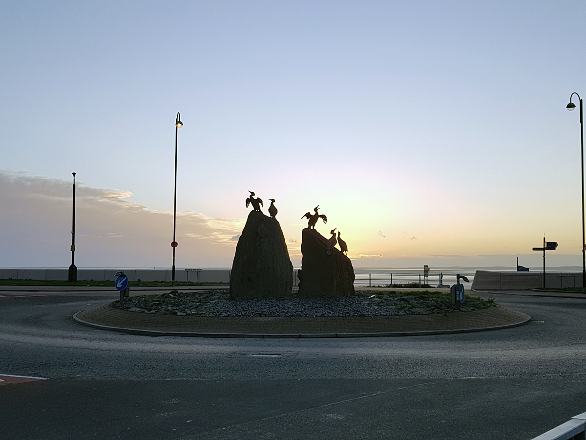 Aan de wandel in Morecambe