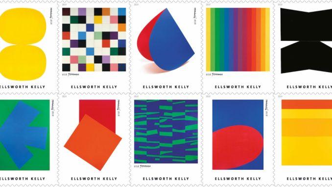 Ellsworth Kelly als postzegel