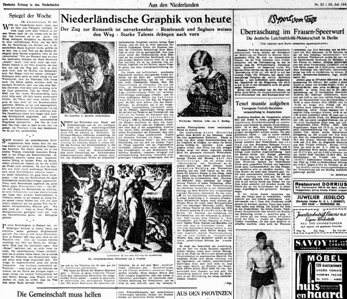 Hoe de Rotterdamse kunstwereld opbloeide tijdens de bezetting