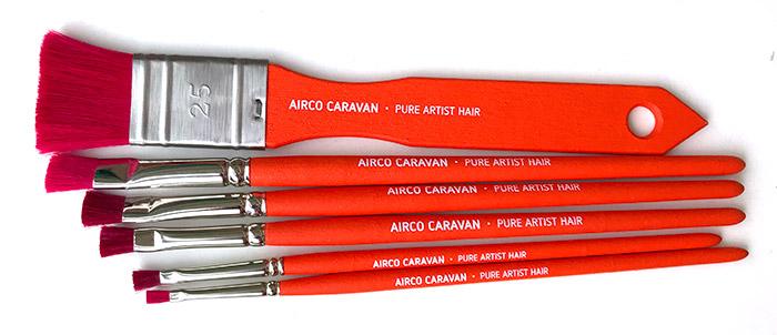 De Airco Caravan kwasten en penselen lijn