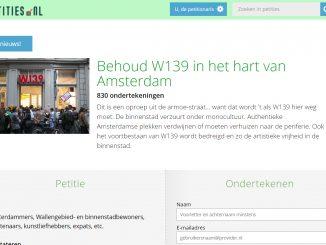 Petitie: Behoud W139 in het hart van Amsterdam
