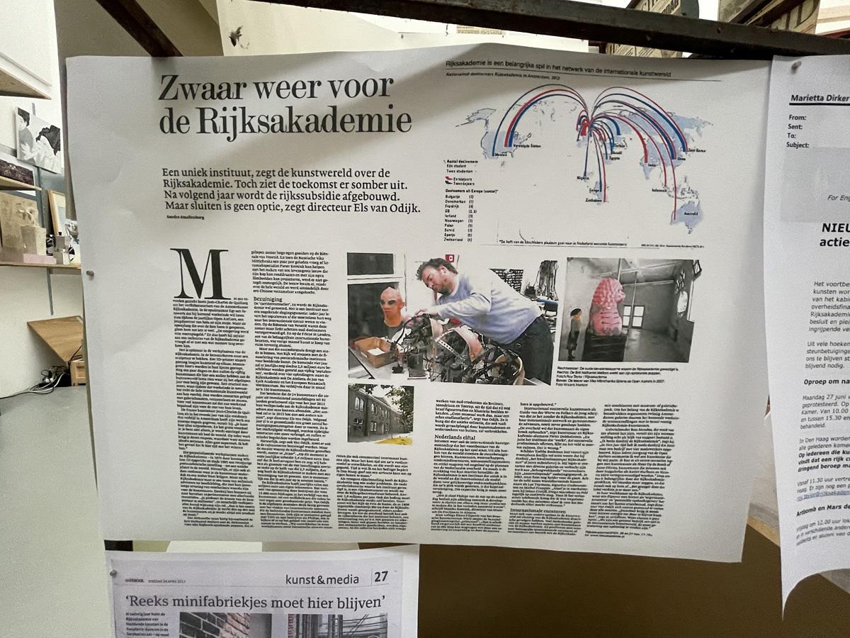 Live from the Rijks @ Rijksakademie